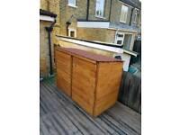 Wood garden storage