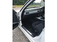 White BMW 318d MSPORT EFFICIENT DYNAMIC
