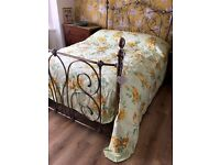 JANET REGER DOUBLE BED THROW NEVER USED, WITH PLATFORM VALANCE