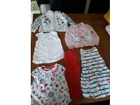 Bundle baby girls clothes age 9-12 months