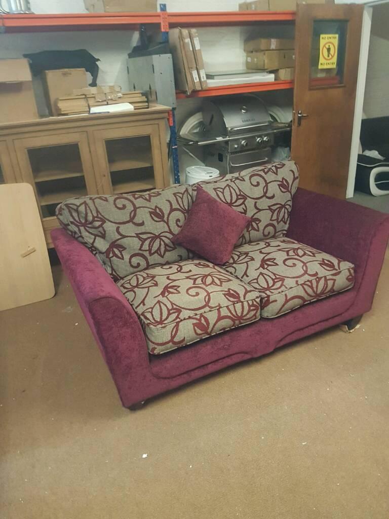 2 seater Purple sofa in good condition | in Stalybridge ...