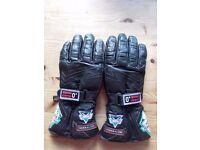 Small Frank Thomas Motor cycling gloves - Good condition