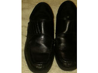 Dr Keller Mens Leather Wide Fit Touch Fastening Casual Work Wider Shoes size 8