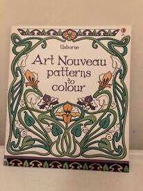 Art nouveaux patterns to colour