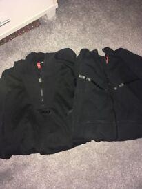 2 Nike Boys Black hoodies aged 12-13 years