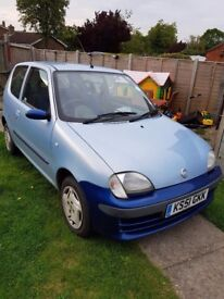 Fiat seicento . 2 tone . 1.1 . Ready to drive away .