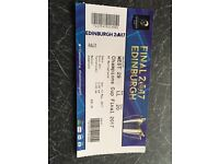 Ticket to the Rugby Champions Cup Final. Saracens V Clermont. Murrayfield. 13th May