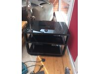 John Lewis black glass tv table just like new £30.00