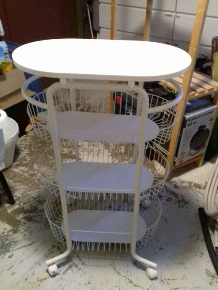 IKEA SPRUTT Rollwagen, weiß, Badezimmer Beistelltisch Aufbewahrun