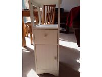 Bathroom cabinet, white. Cupboard and drawer
