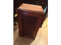 Small wooden cabinet , solid wood. Size L 12.5in D 11.5in H 23in