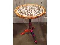 Funky Re designed Harlequin Sparkly Modern Table with handmade Mat