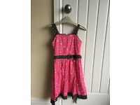 Bright Pink Party Dress for girls of 7 - 8 year olds