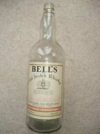 Vintage Retro Large Bells Whisky Embossed 4.5 Litre Gallon Bottle Money Box