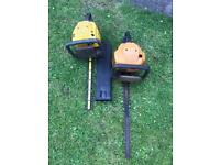 Hedge Trimmers, McCullock and Husqvarna selling for spares or repair. Petrol hedge trimmers.