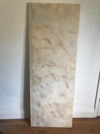 Cream / golden brown marble hearth for sale!