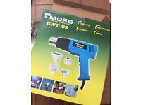 2000W Hot Air Heat Gun Dual Temperature Paint Stripper DIY Tool + 4 Nozzle