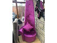 Stunning crushed velvet chair ! Brand new never been used .