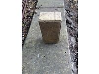 280 unused yellow tough (60mm) driveway/paving bricks