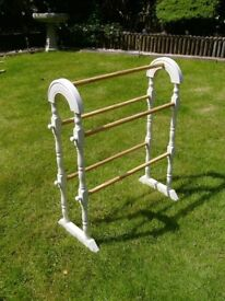 Wooden clothes horse / airer in cream