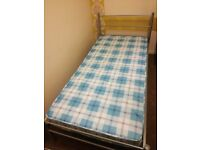 Single bed frame with matrress