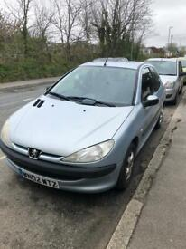 image for Peugeot 206 low mileage great car runs well - needs a bit of work