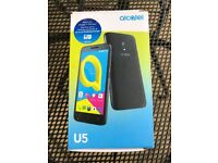 Alcatel U5 android handset sim free. Excellent condition