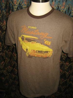 Mustang Ringer (Vtg Brown Ringer Ford Mustang Made in USA 50 50 T Shirt XL)