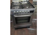 Silver Gas cooker 60cm......Mint free delivery