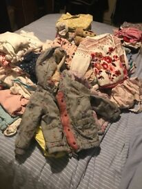 Girls cloths bundle 1 year to 2 years old around 70 pieces