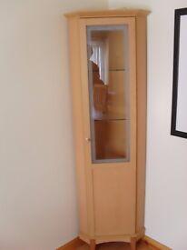 full length beech corner unit with lighting and shelving (full length door)