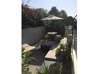 Double room in a bright & sunny, peaceful home.