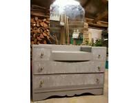 Full refurbished vintage dressing table
