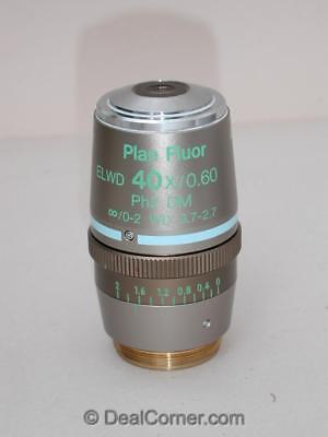 Nikon Plan Fluor Elwd 40x Ph2 Dm For Eclipse Phase Microscope Objective Nice