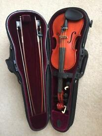 1/4 size Gliga Gems 1 violin fitted with Dominant strings