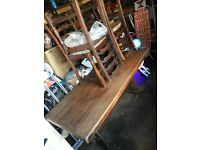 Priory style dining table with 4 chairs