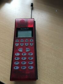 Vintage Retro Swatch mobile phone - limited edition