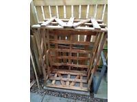 Box Pallet Suitable for Storage / Wood Store Upcycle Project