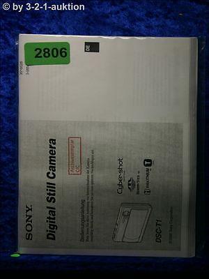 Sony Bedienungsanleitung DSC T1 Digital Still Camera (#2806) online kaufen