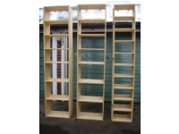 Three Solid Wood Shelving Units