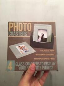 Brand new in box. Photo coasters