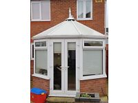 Double Glazed White UPVC Conservatory 3 x 4 metres, comes with Blinds + Light - Excellent Condition