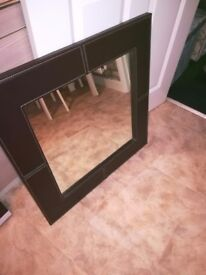 Brown leather mirror marks and spencer