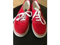 Red vans size 2