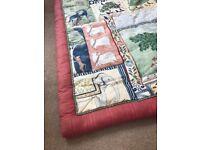 Jane Churchill bed quilt