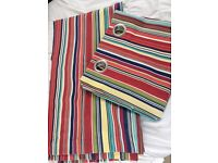 John Lewis striped Eyelet Curtains