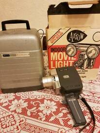 Projector cine camera and light bulbs