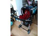 Icandy cherry buggy, carrycot, cosytoes, rain covers, maxi cosi car seat and adaptors