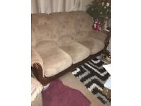 Italian made settee and one chair less year old cost £2000