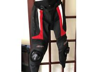 RST-14 Leather Motorcycle Trousers 34 Waist Red/White As New